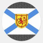 Bandera de Canadá Nueva Escocia Pegatina Redonda