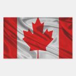 Bandera de Canadá Pegatina Rectangular