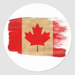 Bandera de Canadá Pegatina Redonda