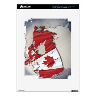 Bandera de Canadá Pegatina Skin Para iPad 3