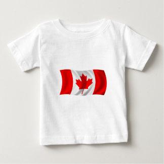 Bandera de Canadá Playera De Bebé