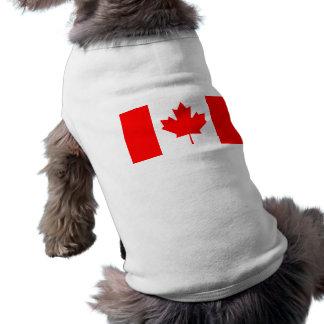 Bandera de Canadá Playera Sin Mangas Para Perro