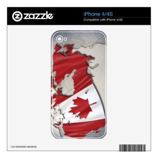 Bandera de Canadá Skin Para El iPhone 4