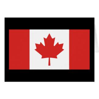 Bandera de Canadá Felicitación
