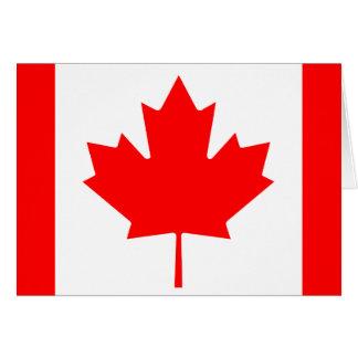 Bandera de Canadá Tarjeta De Felicitación