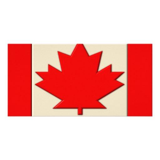 Bandera de Canadá Tarjetas Fotográficas Personalizadas