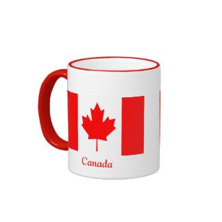 Bandera de Canadá Taza De Dos Colores