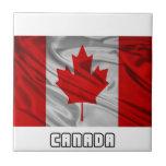 Bandera de Canadá Tejas Ceramicas