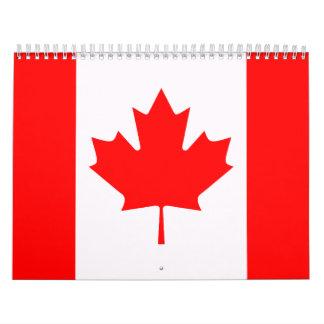 Bandera de Canadá Calendarios