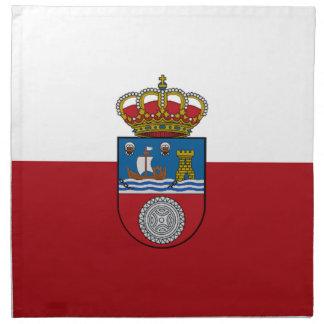 Bandera de Cantabria (España) Servilleta De Papel