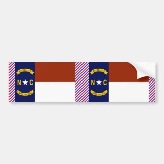 Bandera de Carolina del Norte Pegatina De Parachoque