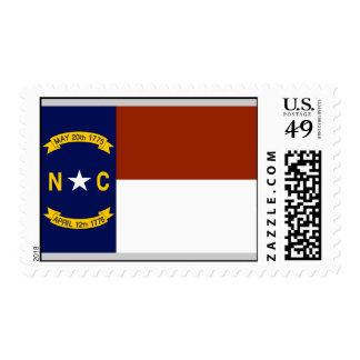 Bandera de Carolina del Norte Franqueo