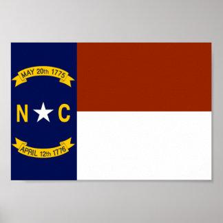 Bandera de Carolina del Norte Posters