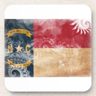 Bandera de Carolina del Norte Posavasos De Bebidas