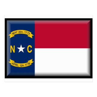 Bandera de Carolina del Norte Tarjeta Postal