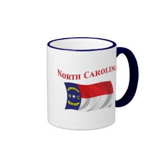 Bandera de Carolina del Norte Taza De Dos Colores
