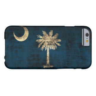 Bandera de Carolina del Sur del Grunge del vintage Funda De iPhone 6 Barely There