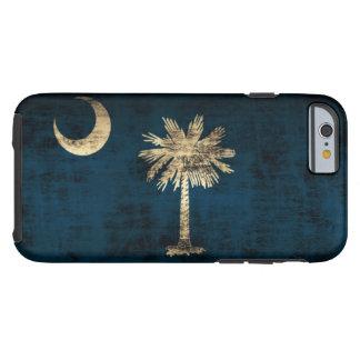 Bandera de Carolina del Sur del Grunge del vintage Funda De iPhone 6 Tough