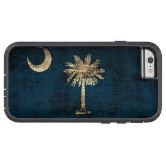 Bandera de Carolina del Sur del Grunge del vintage Funda De iPhone 6 Tough Xtreme