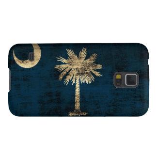 Bandera de Carolina del Sur del Grunge Funda Para Galaxy S5