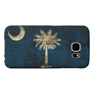 Bandera de Carolina del Sur del Grunge Funda Samsung Galaxy S6