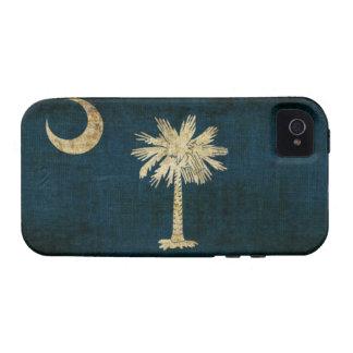Bandera de Carolina del Sur Case-Mate iPhone 4 Carcasas