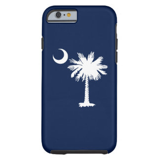 Bandera de Carolina del Sur Funda De iPhone 6 Tough