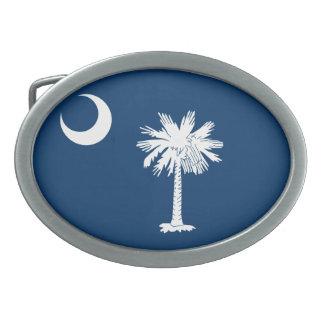 Bandera de Carolina del Sur Hebilla Cinturón Oval