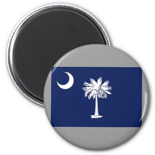 Bandera de Carolina del Sur Imán Redondo 5 Cm