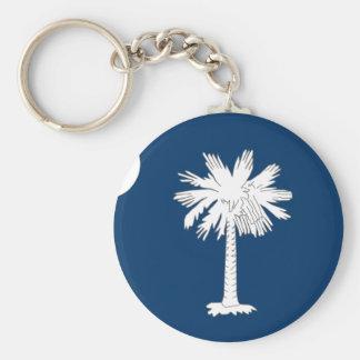 Bandera de Carolina del Sur Llavero Redondo Tipo Pin