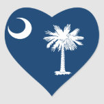 Bandera de Carolina del Sur Calcomanía De Corazón Personalizadas