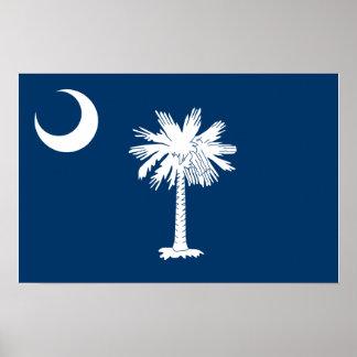 Bandera de Carolina del Sur Póster