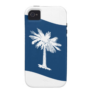 Bandera de Carolina del Sur que agita iPhone 4/4S Fundas