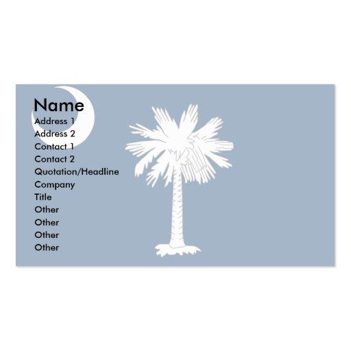 Bandera de Carolina del Sur Plantilla De Tarjeta Personal
