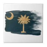 Bandera de Carolina del Sur Teja