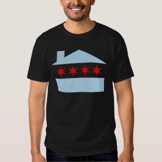 Bandera de casa de Chicago Playera