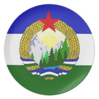 Bandera de Cascadia socialista Plato De Cena