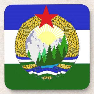 Bandera de Cascadia socialista Posavasos De Bebidas
