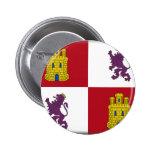 Bandera de Castilla y León (España) Pin Redondo De 2 Pulgadas