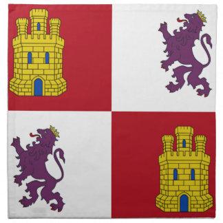 Bandera de Castilla y León (España) Servilletas De Papel