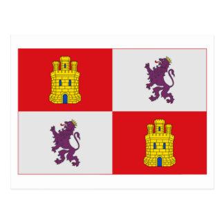 Bandera de Castilla y León Tarjeta Postal