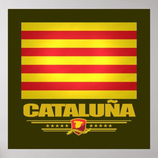 Bandera de Cataluña (Cataluña) Póster
