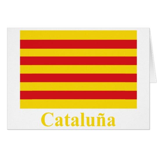 Bandera de Cataluña con nombre Tarjeta De Felicitación