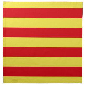 Bandera de Cataluña (España) Servilleta Imprimida
