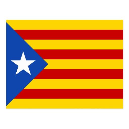 Bandera de Cataluña Estelada Postal