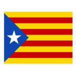 Bandera de Cataluña Estelada Tarjetas Postales