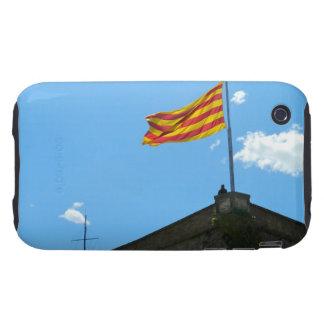 Bandera de Cataluña iPhone 3 Tough Cárcasa