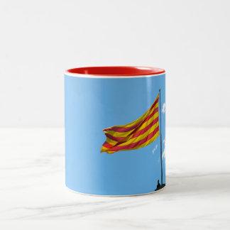 Bandera de Cataluña Taza De Dos Tonos