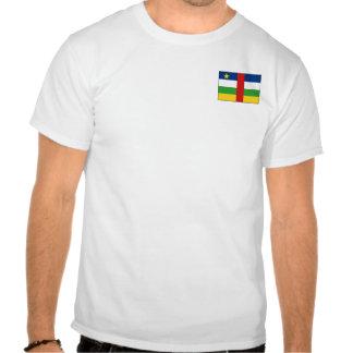 Bandera de Centrafrique y camiseta del mapa