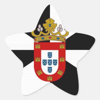 Bandera de Ceuta (España) Pegatina En Forma De Estrella